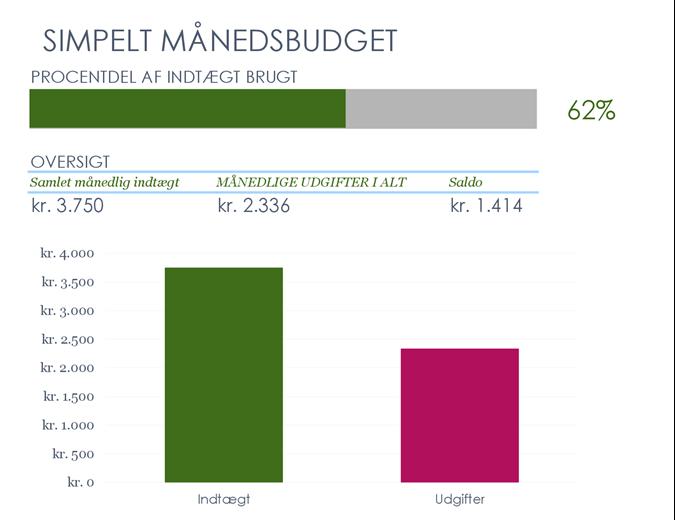Enkelt månedsbudget