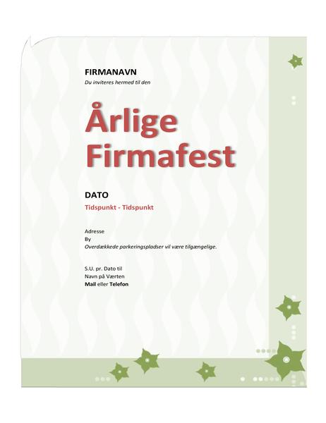 Invitation til firmafest