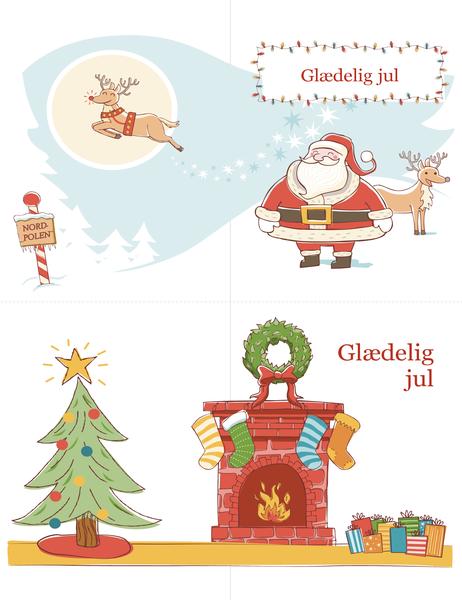 Julekort (design med julestemning, to pr. side)