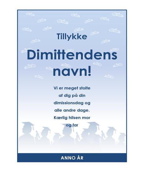 Lykønskningsflyer til dimittender (Eksamensfest-design)