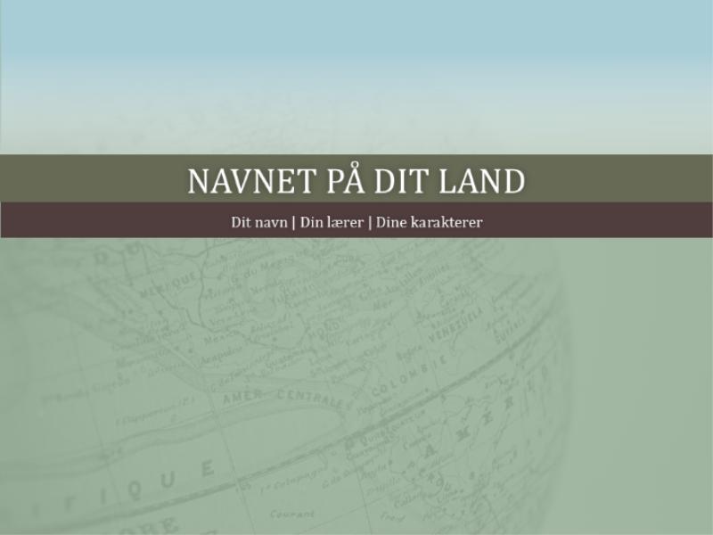 Præsentation til rapport om land