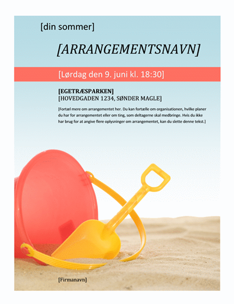 Brochure til sommerarrangement