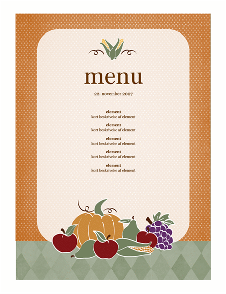 Menu (høstdesign)