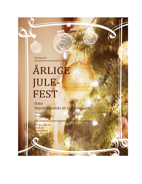 Invitation til julefrokost (til firmabegivenhed)