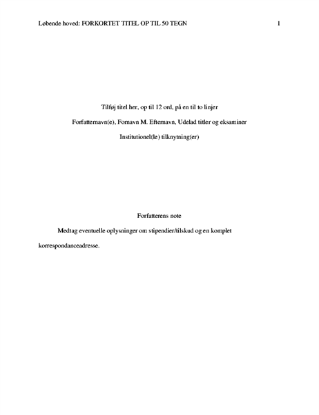 APA-typografipapir
