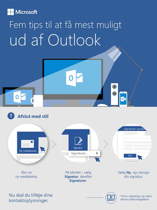 Fem måder at få Outlook til at gøre arbejdet for dig