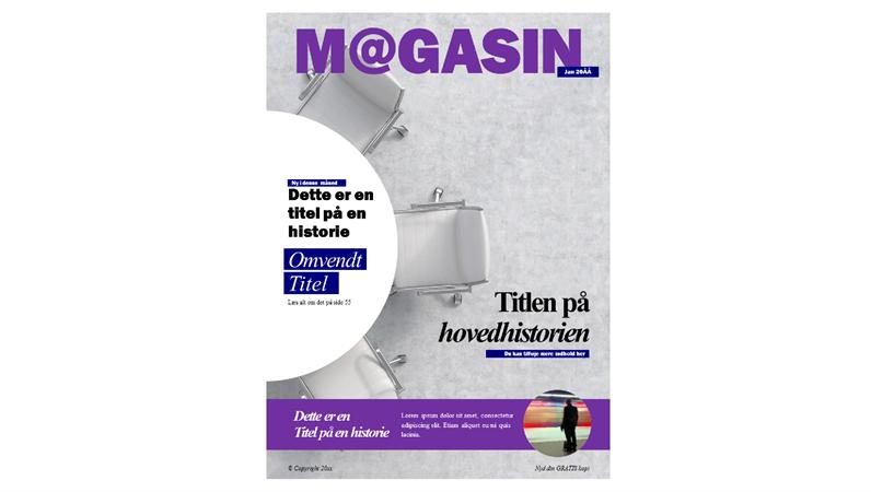 Omslag – socialt magasin