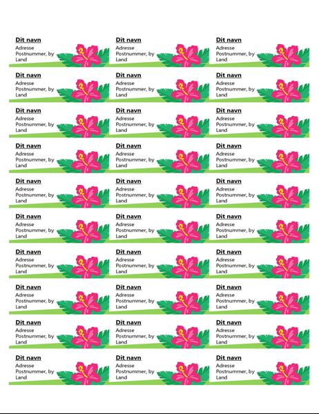 Tropiske mærkater (30 pr. side)