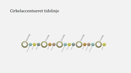 Slide med tidslinjediagram for arrangement (widescreen)