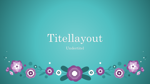 Lilla blomster på en blå baggrund (widescreen)