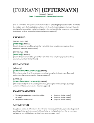 Kronologisk CV (Moderne design)