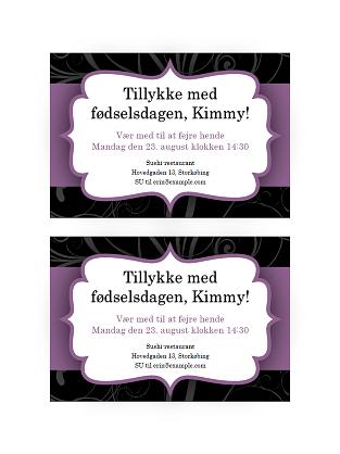 Invitation (design med lilla bånd)