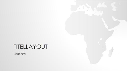 Serie med verdenskort, Afrikapræsentation (widescreen)