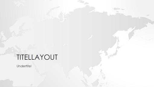 Serie med verdenskort, Asienpræsentation (widescreen)