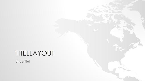 Serie med verdenskort, præsentation af Nordamerika (widescreen)