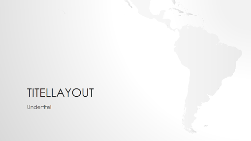Serie med verdenskort, præsentation af Sydamerika (widescreen)