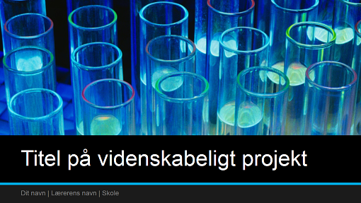 Præsentation til projekt i naturvidenskab (widescreen)