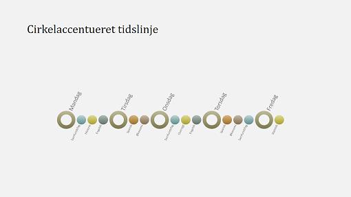 Slide med tidslinjediagram for arrangement (widescreen)