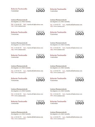 Visitkort med logo (10 pr. side)