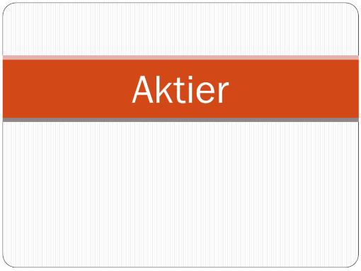 Aktier
