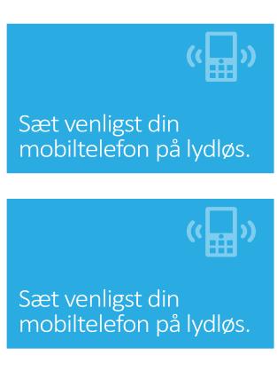 Sluk mobilen-plakat (blå)