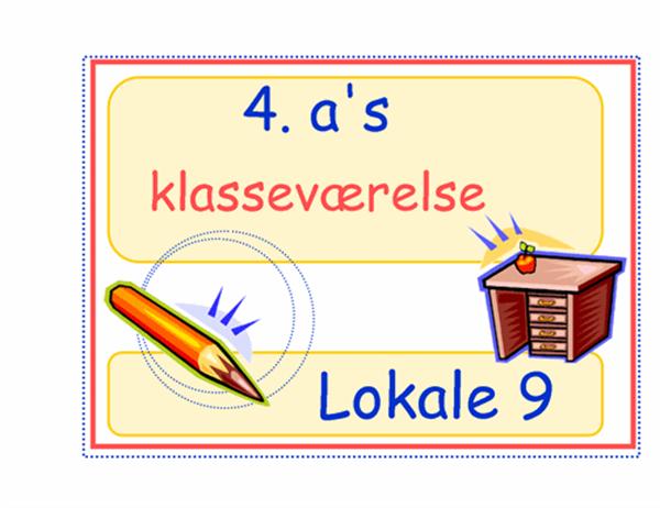 Klasseværelseskilt (indskoling)