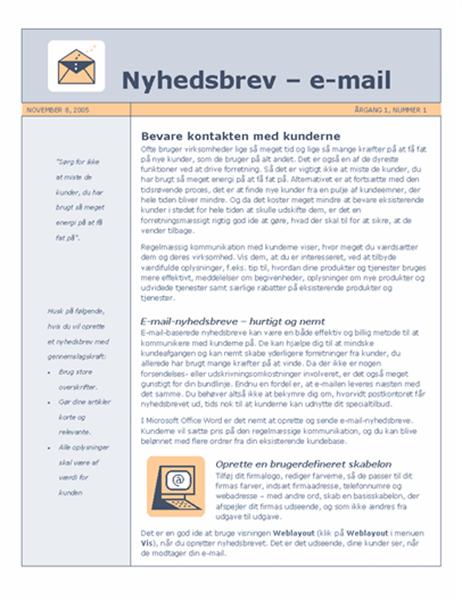 Nyhedsbrev – e-mail