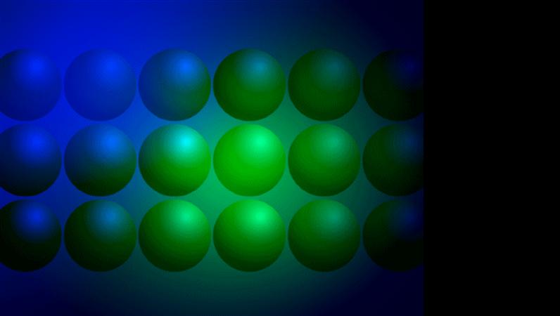 Blå og grønne kugler, designskabelon