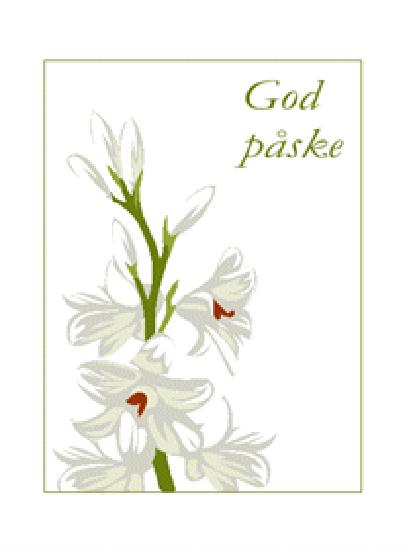 Påskekort (med blomster)