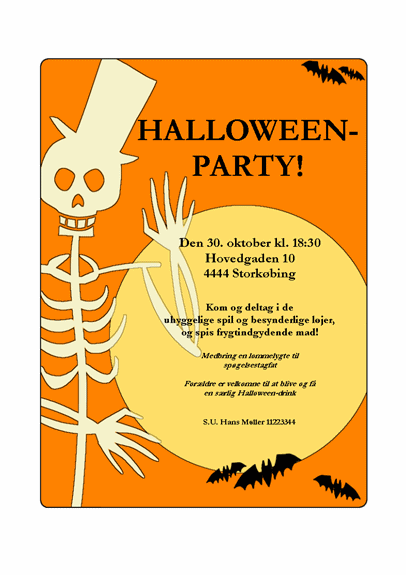 Invitation til Halloween-fest