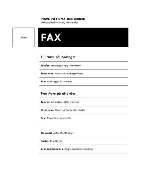 Fax (temaet Median)