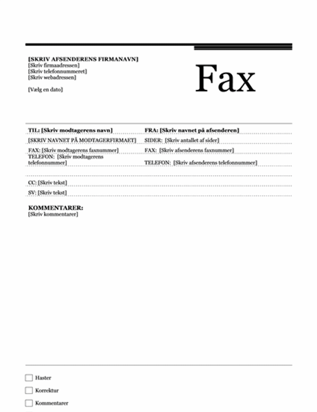 Fax (temaet Urban)