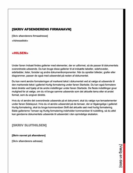 Flettebrev (designet Essentiel)