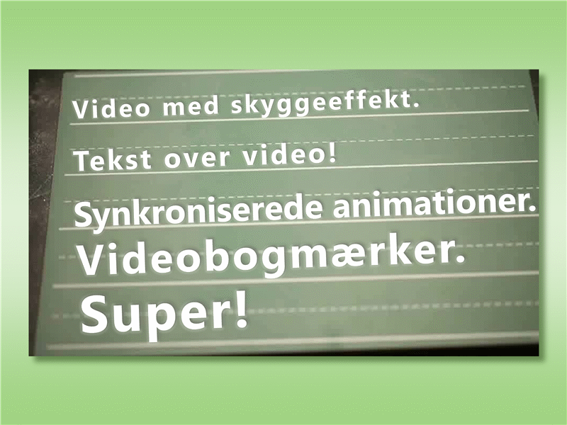 Tekst over video