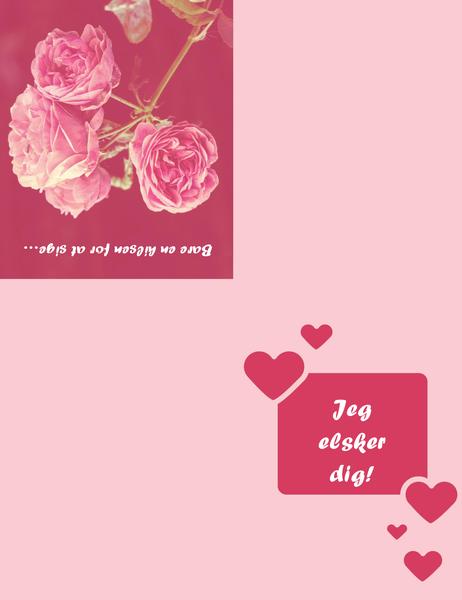 Kærlighedskort (dobbeltfoldet)
