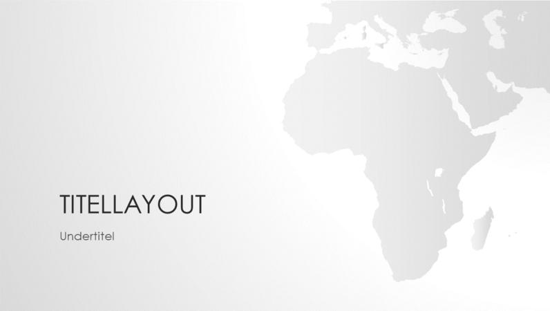 Serie med verdenskort, afrikansk præsentation (widescreen)
