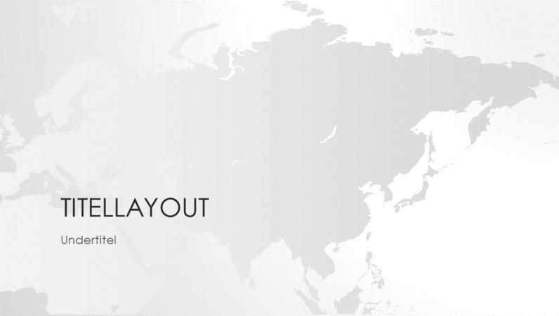 Verdenskortserien, præsentation med det asiatiske kontinent (widescreen)