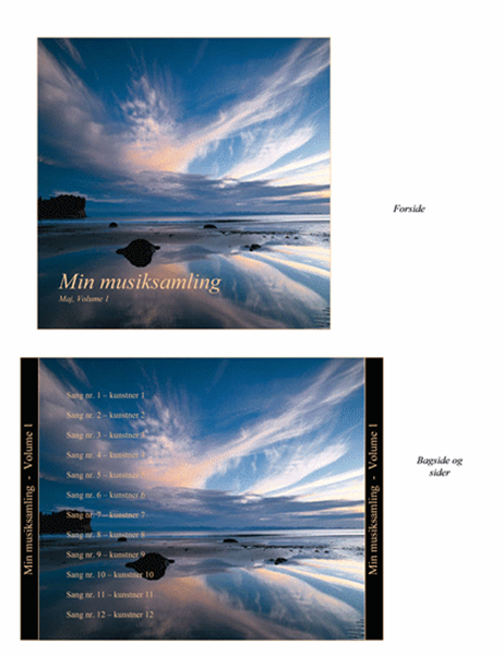 Min musiksamling, cd-indlæg