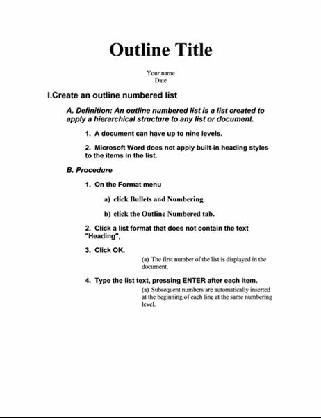 Disposition i fem niveauer med instruktioner