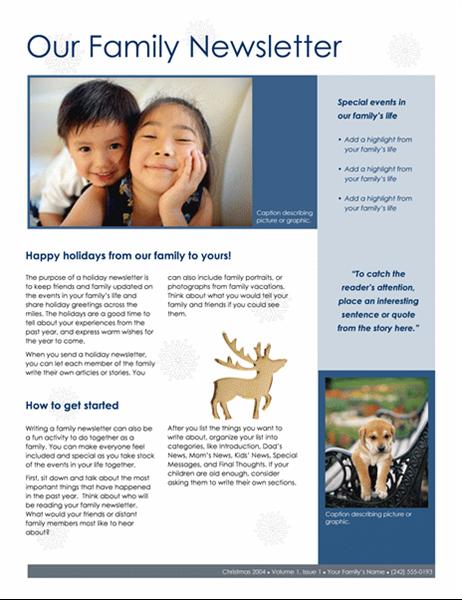 Familiens julenyhedsbrev