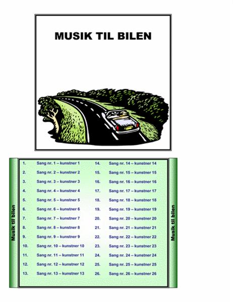 Musik til bilen, cd-cover