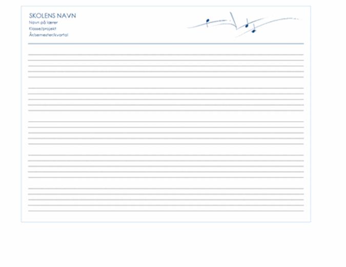 Generisk papir til medarbejdere (liggende, 5/s)