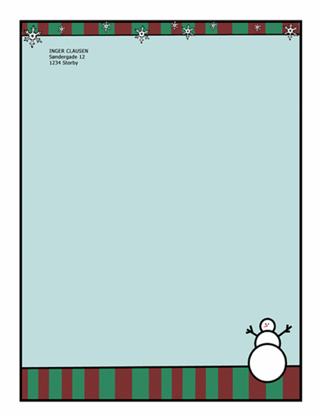 Julebrevpapir (med snemand)