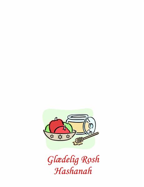 Rosh Hashanah-kort (med æbler og honning)