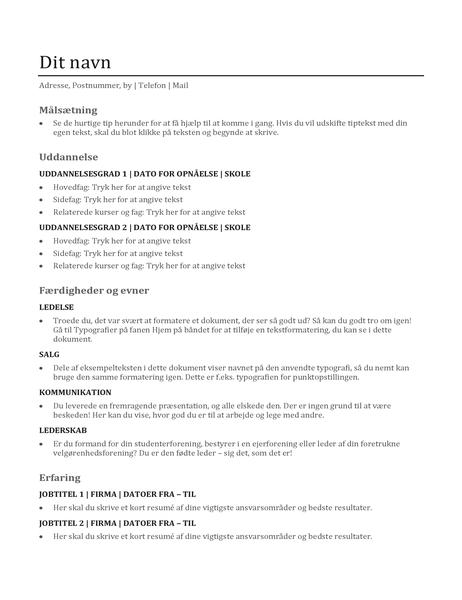 Kompetence-CV