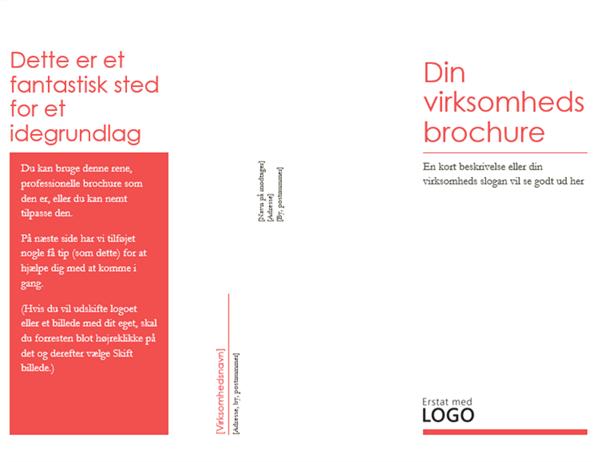 Virksomhedens brochure