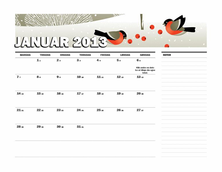 Juliansk kalender for 2013 (M-S)
