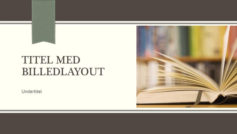 Akademisk præsentation, nålestribe- og bånddesign (widescreen)
