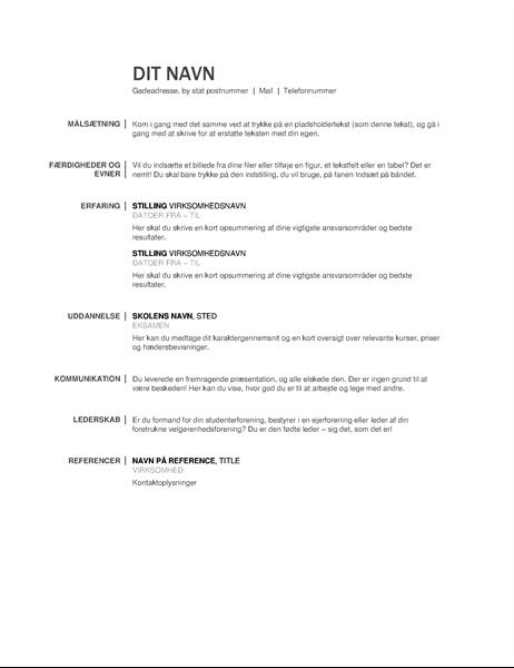 Grundlæggende CV