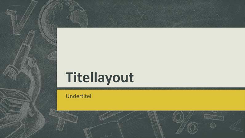 Præsentation af undervisningsemner, tavledesign (widescreen)
